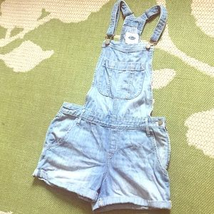 Old Navy Denim Short Overalls